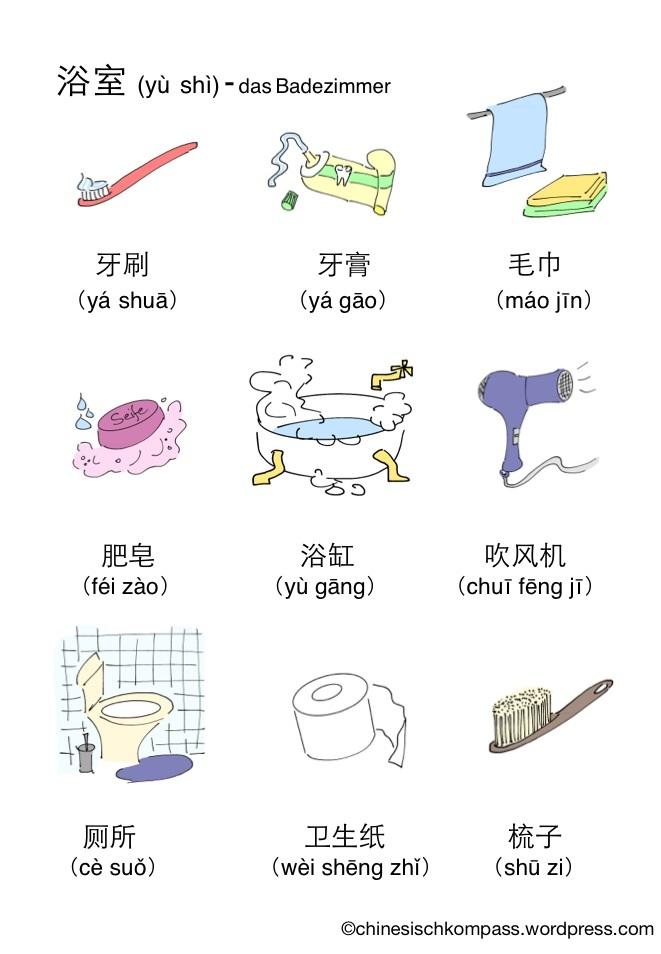 Badezimmer Englisch Vokabeln : Badezimmer Chinesisch Kompass
